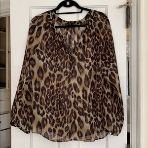 Sheer Leopard Print Banana Republic Tunic